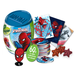 SPIDERMAN SURPRISE CAPSULE WITH FILL VIS - NEW