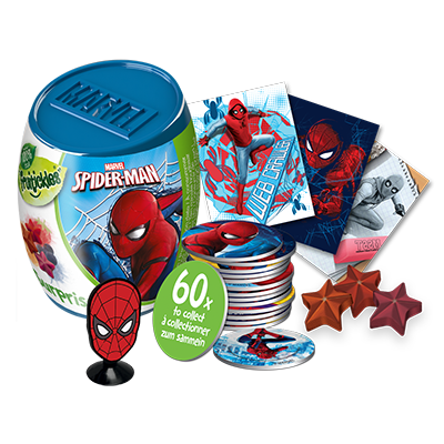 SPIDERMAN SURPRISE CAPSULE WITH FILL VIS – NEW